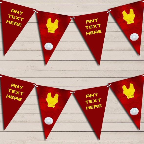 Superhero Iron Man Children's Birthday Bunting Garland Party Banner