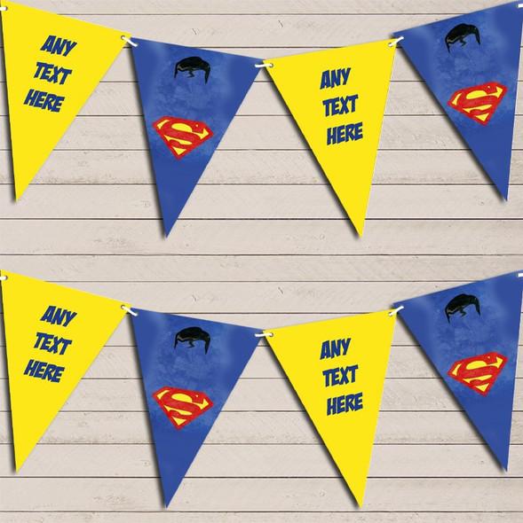 Superhero Superman Children's Birthday Bunting Garland Party Banner