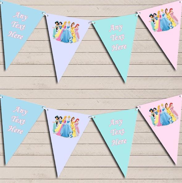 Pastel Princess Children's Birthday Bunting Garland Party Banner