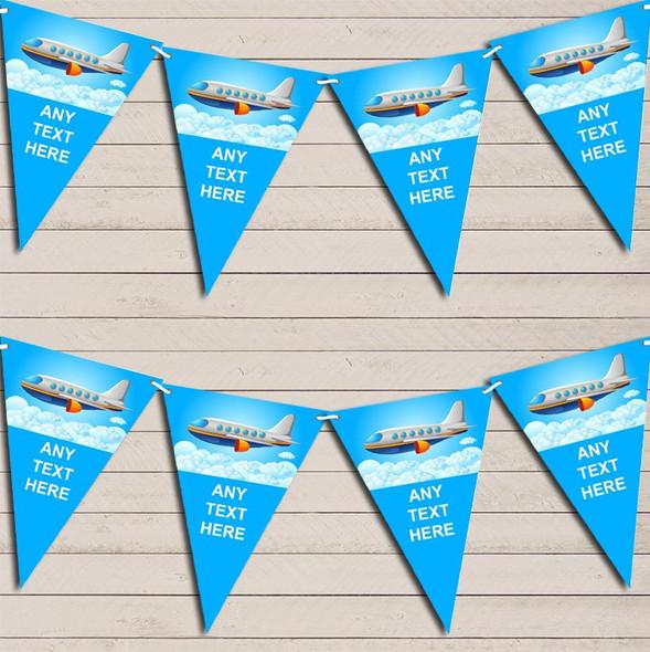 Plane In Sky Children's Birthday Bunting Garland Party Banner