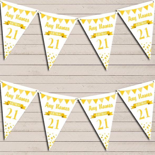 Any Age Birthday 18Th 21st 30th 40th 50th 60th Yellow Birthday Bunting