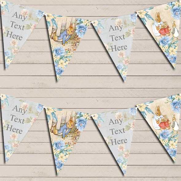 Shabby Chic Vintage Peter Rabbit Personalised Baby Shower Bunting