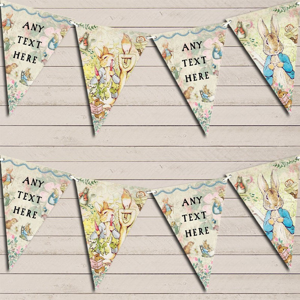 Beatrix Potter Peter Rabbit Personalised Baby Shower Bunting