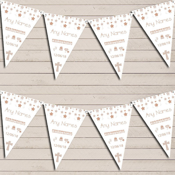 Christening Or Baptism Neutral Personalised Christening Bunting