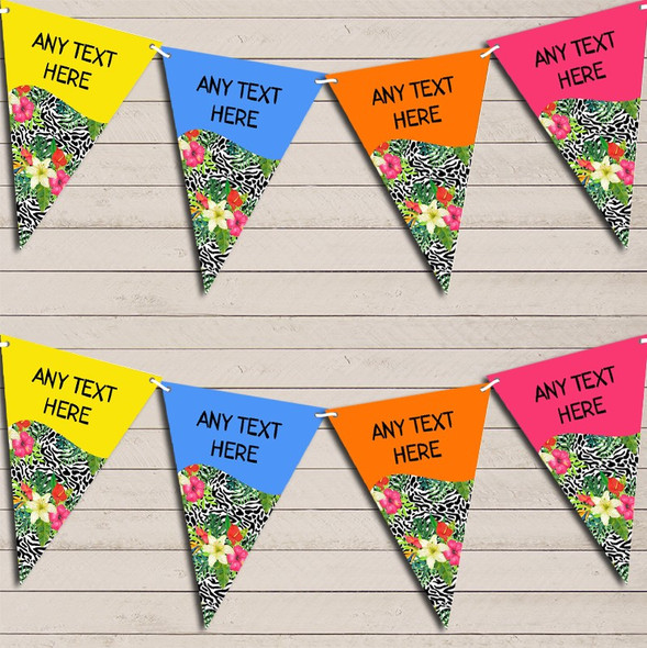Paradise Hawaiian Beach Party Lei Tropical Personalised Hen Do Party Bunting