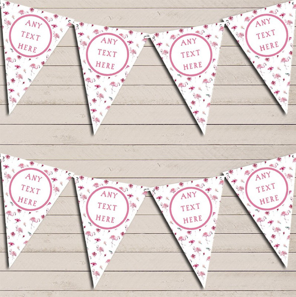 Pretty Pink Flamingo Personalised Hen Do Party Bunting
