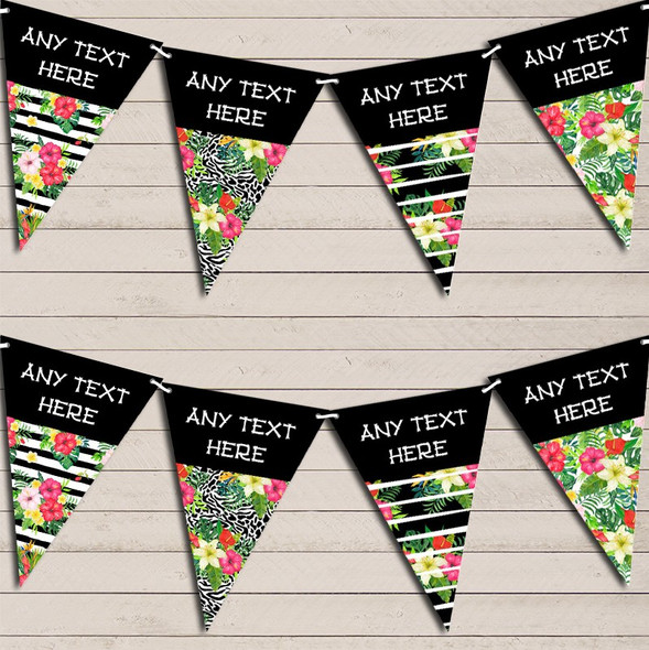Tropical Paradise Hawaiian Beach Party Lei Personalised Hen Do Party Bunting