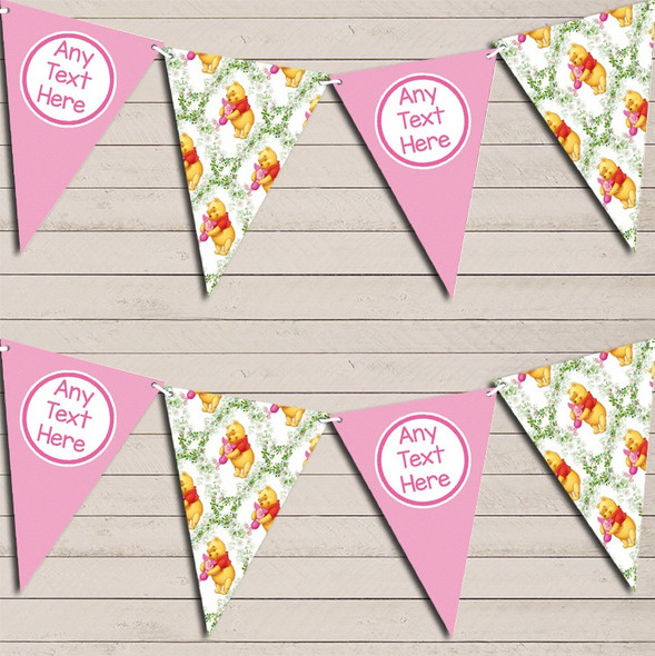 Winne The Pooh & Piglet Personalised Children's Birthday Bunting