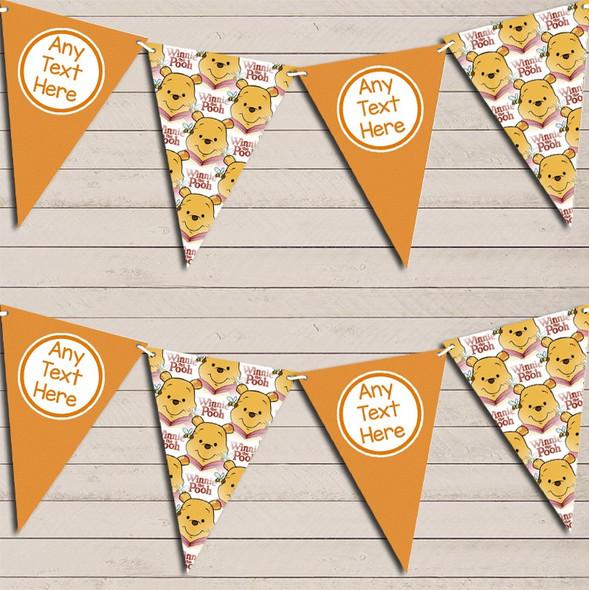 Winne The Pooh Orange Personalised Children's Birthday Bunting