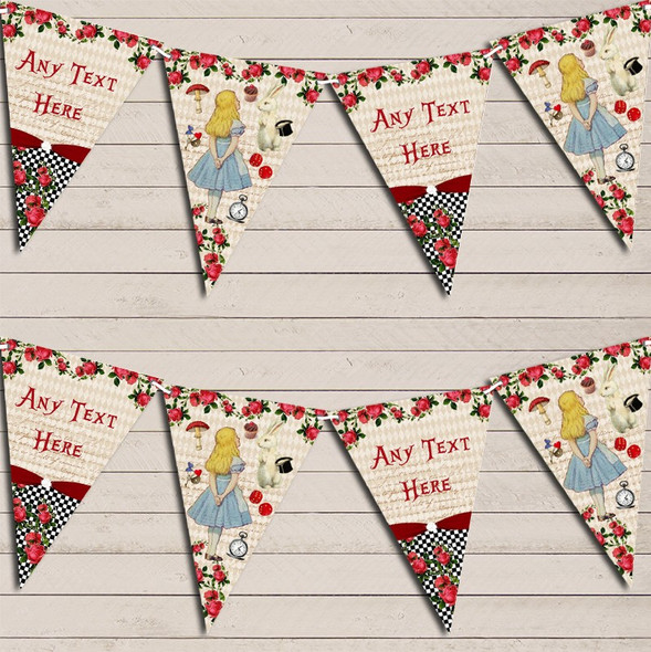 Alice In Wonderland Mad Hatters Tea Party Children's Birthday Bunting