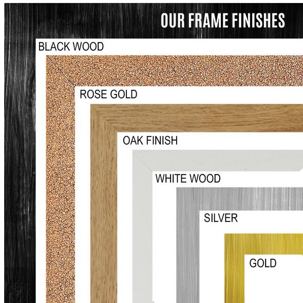 Photo Picture Frame Sizes: A5 A4 A3 A2 Colours: Black, White, Gold, Rose Gold, Oak, Silver
