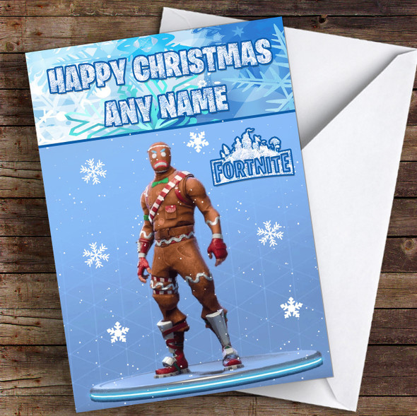 Fortnite Merry Marauder Personalised Children's Christmas Card