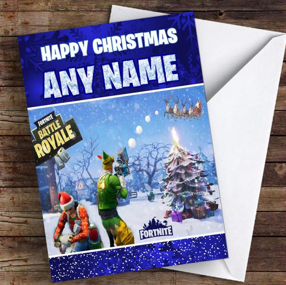 Fortnite Battle Royale Personalised Children's Christmas Card