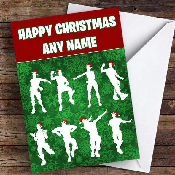 Fortnite Dancers Personalised Children's Christmas Card