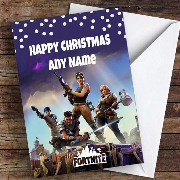 Fortnite Personalised Children's Christmas Card