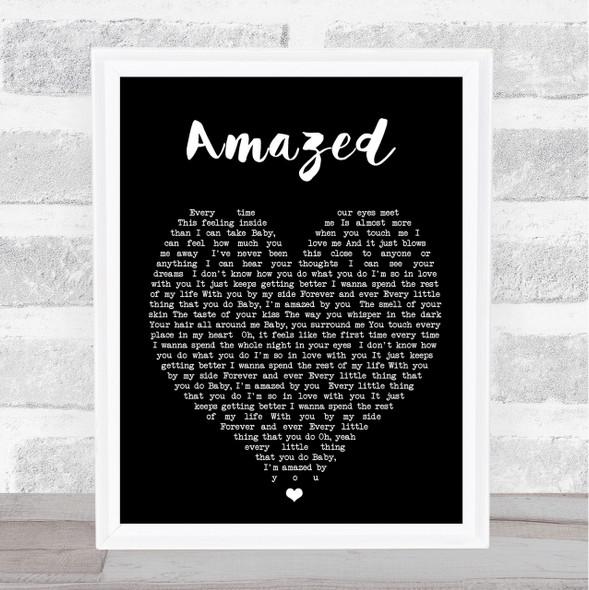 Amazed Lonestar Black Heart Quote Song Lyric Print