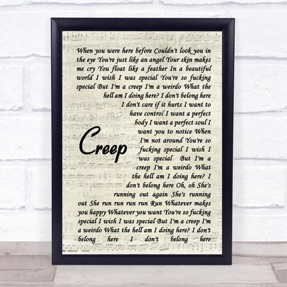 Creep Radiohead Script Quote Song Lyric Print