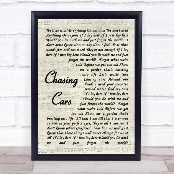 Snow Patrol Chasing Cars Quote Song Lyric Print