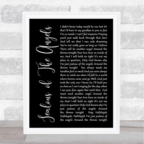 Katherine Jenkins Jealous Of The Angels Black Script Song Lyric Quote Print