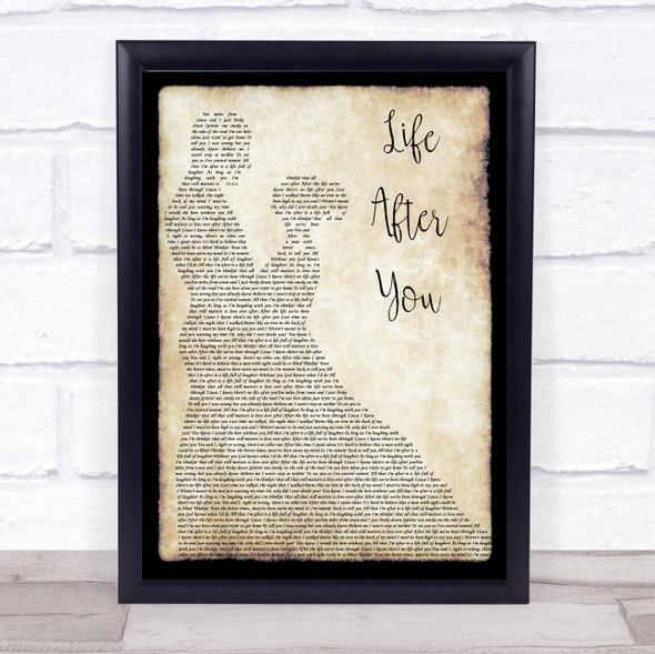 Life After You Song Lyric Man Lady Dancing Quote Print