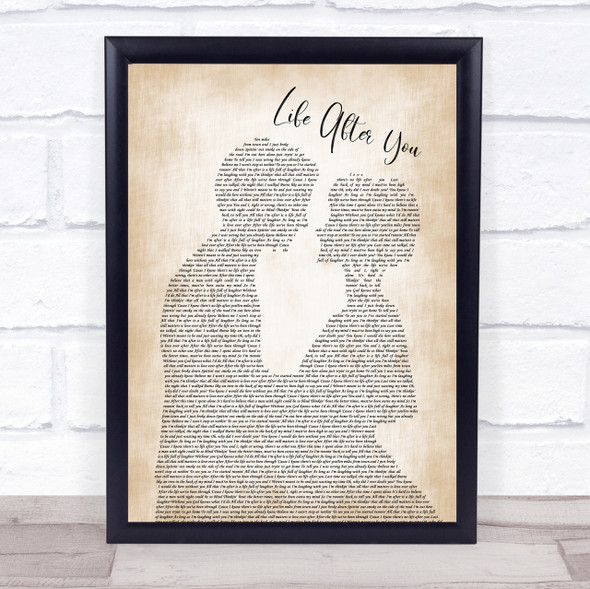 Life After You Song Lyric Man Lady Bride Groom Wedding Print