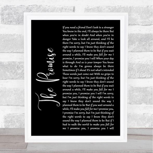 Sturgill Simpson The Promise Black Script Song Lyric Quote Print