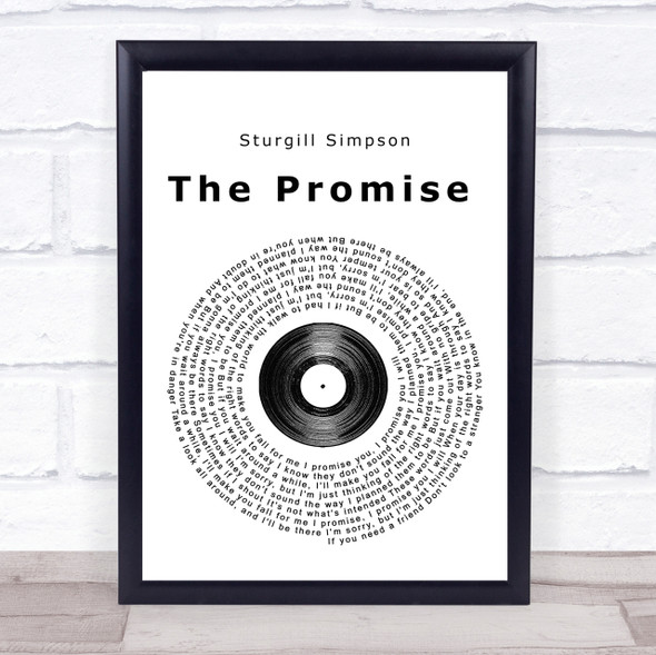 Sturgill Simpson The Promise Vinyl Record Song Lyric Quote Print