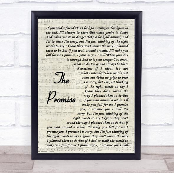 Sturgill Simpson The Promise Vintage Script Song Lyric Quote Print