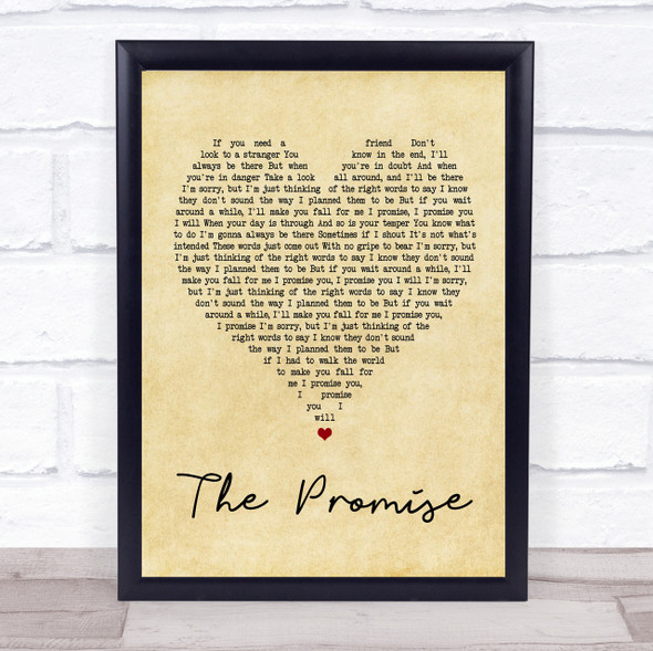 Sturgill Simpson The Promise Vintage Heart Song Lyric Quote Print