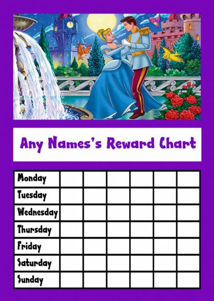 Cinderella Star Sticker Reward Chart