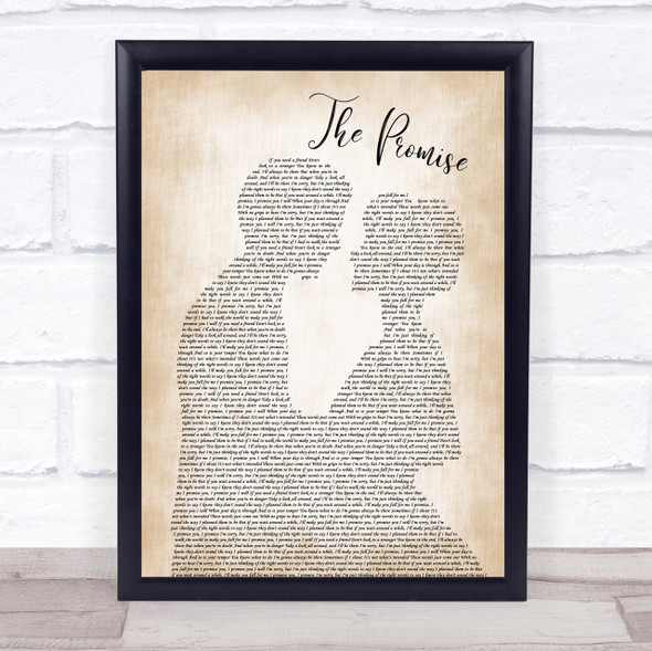 Sturgill Simpson The Promise Man Lady Bride Groom Wedding Song Lyric Quote Print