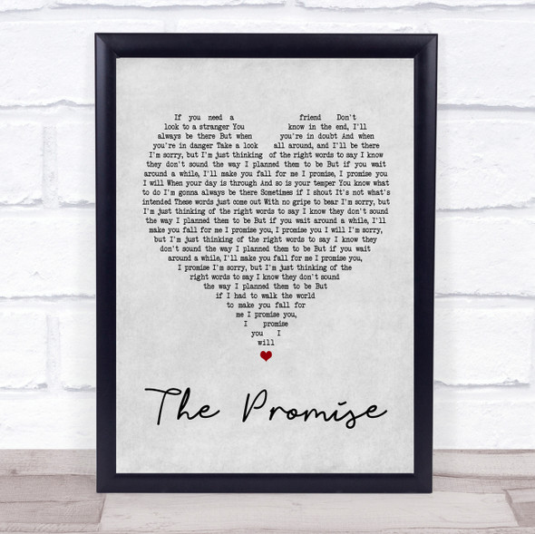 Sturgill Simpson The Promise Grey Heart Song Lyric Quote Print