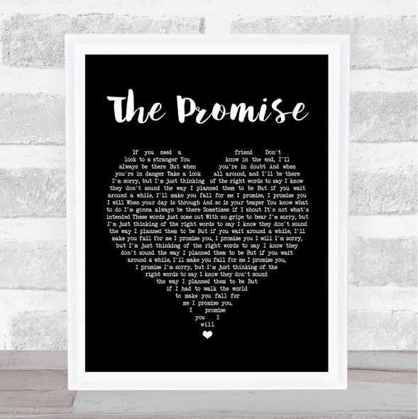 Sturgill Simpson The Promise Black Heart Song Lyric Quote Print