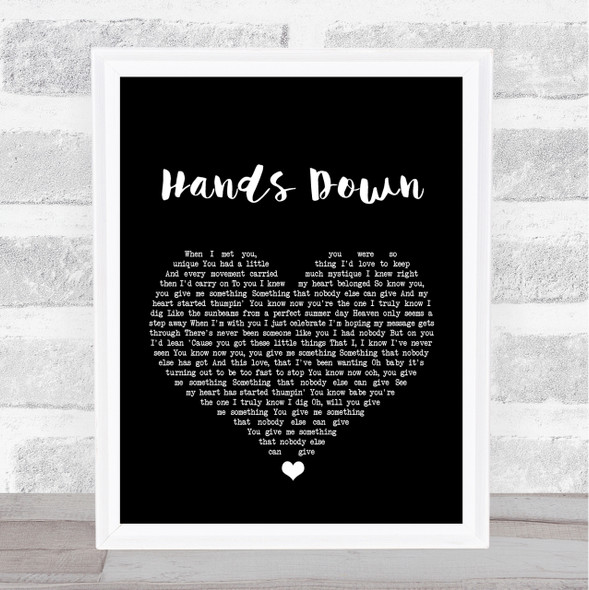 Dashboard Confessional Hands Down Black Heart Song Lyric Quote Print