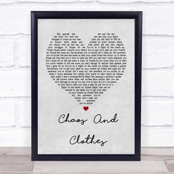 Jason Isbell And The 400 Unit Chaos And Clothes Grey Heart Song Lyric Print