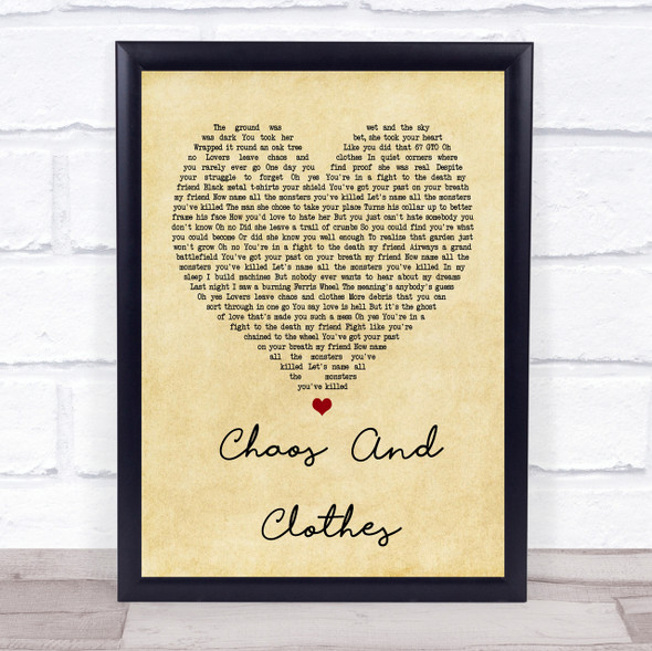 Jason Isbell And The 400 Unit Chaos And Clothes Vintage Heart Song Lyric Print