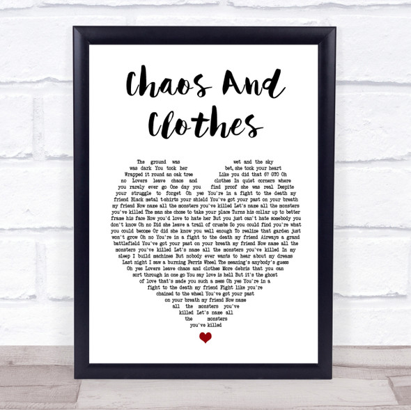 Jason Isbell And The 400 Unit Chaos And Clothes White Heart Song Lyric Print