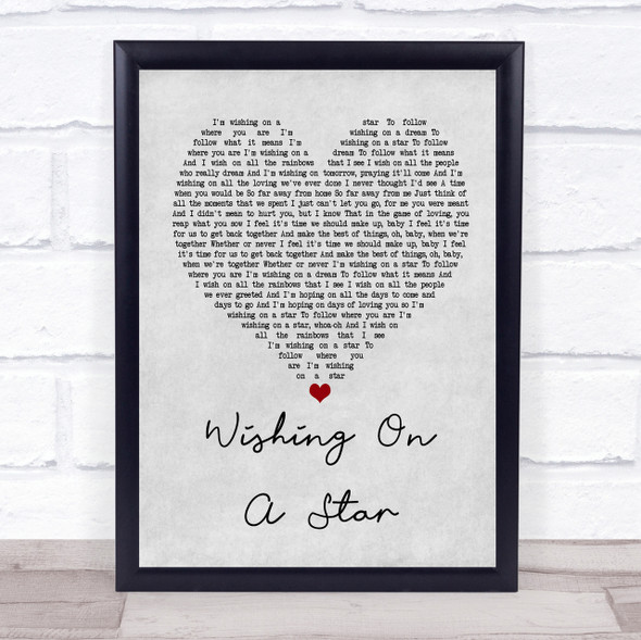 Rose Royce Wishing On A Star Grey Heart Song Lyric Quote Print