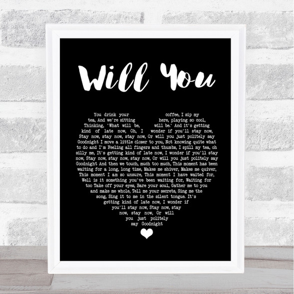 Hazel O'Connor Will You Black Heart Song Lyric Quote Print