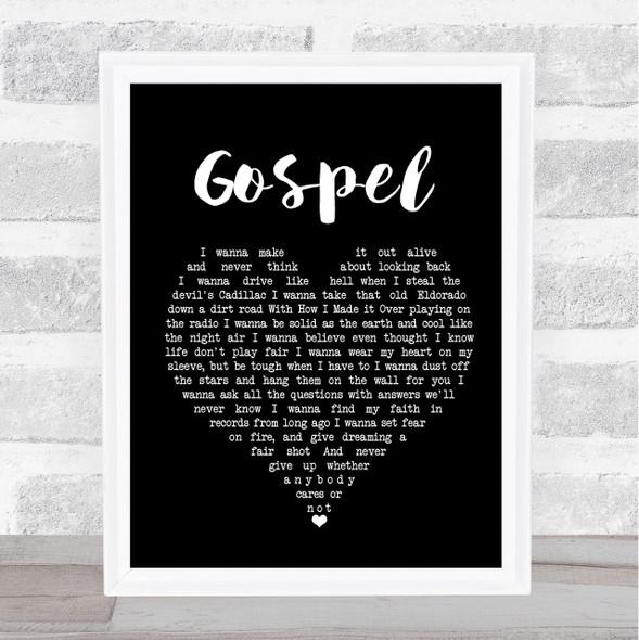John Moreland Gospel Black Heart Song Lyric Quote Print