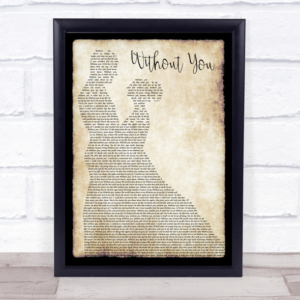 Motley Crue Without You Man Lady Dancing Song Lyric Quote Print