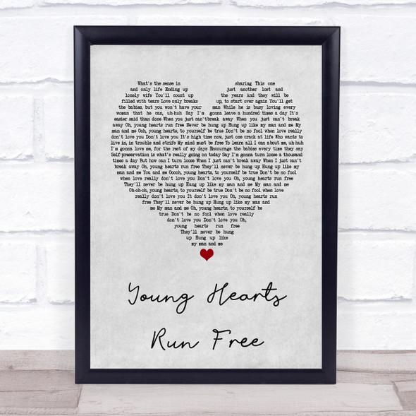 Candi Staton Young Hearts Run Free Grey Heart Quote Song Lyric Print
