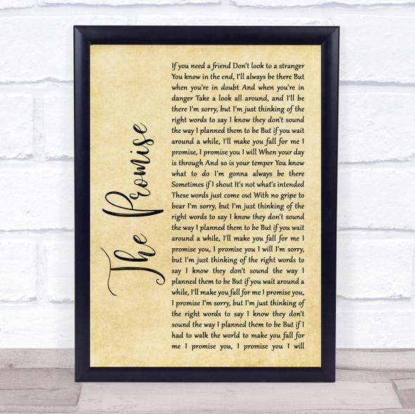 Sturgill Simpson The Promise Rustic Script Song Lyric Quote Print