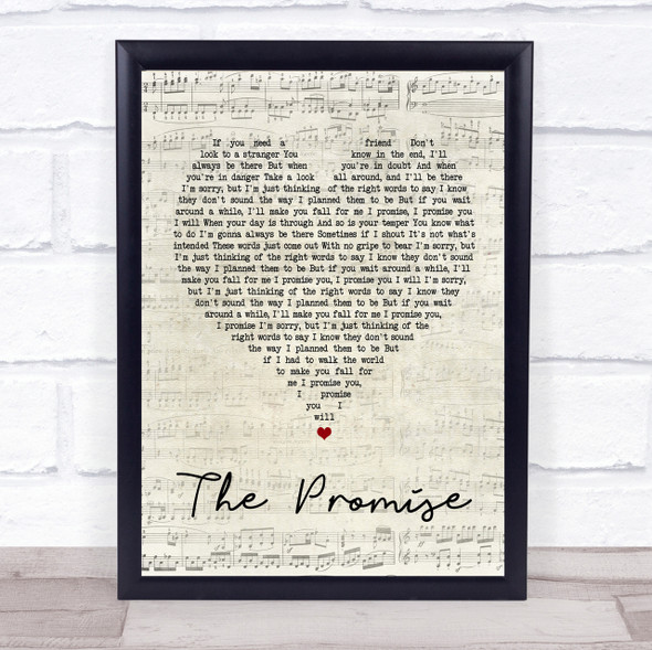 Sturgill Simpson The Promise Script Heart Song Lyric Quote Print