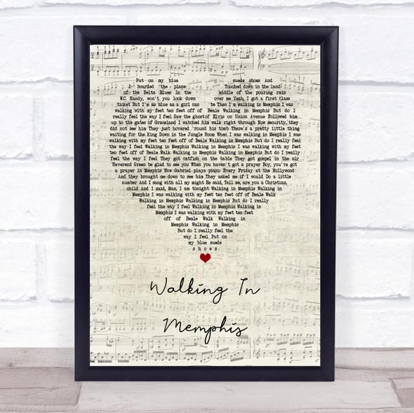 Cher Walking In Memphis Script Heart Quote Song Lyric Print
