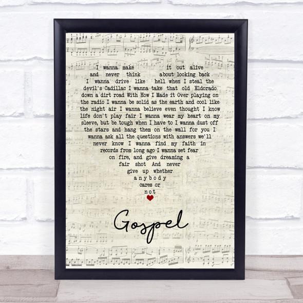 John Moreland Gospel Script Heart Quote Song Lyric Print