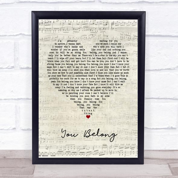 Rachel Platten You Belong Script Heart Quote Song Lyric Print