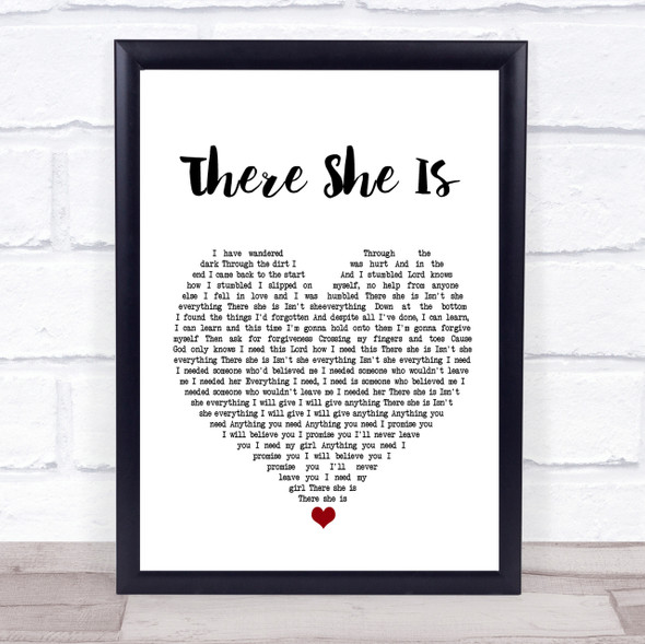Frank Turner There She Is Heart Song Lyric Quote Print