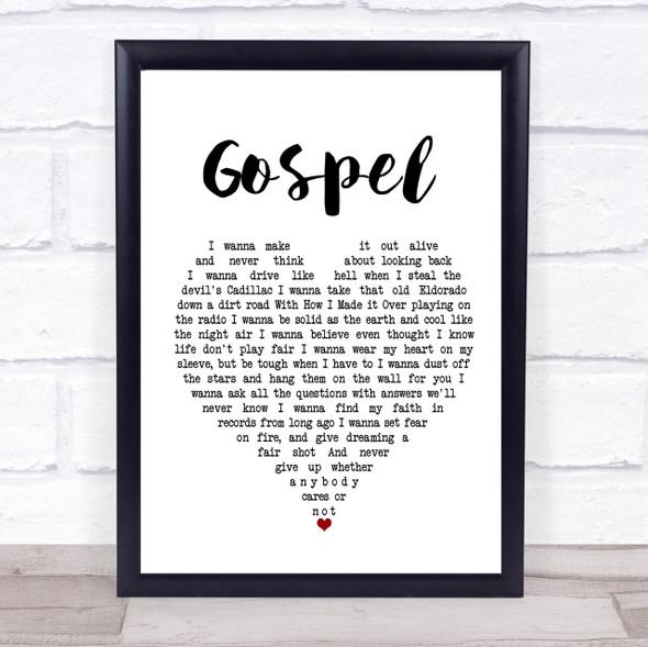 John Moreland Gospel Heart Song Lyric Quote Print