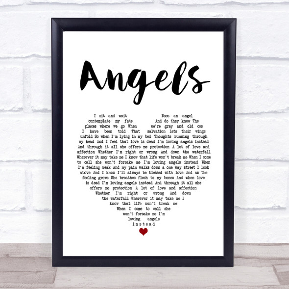 Robbie Williams Angels Heart Song Lyric Quote Print